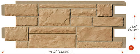 Fassadenverkleidung novik bruchstein hc - Vinyle imitation pierre ...